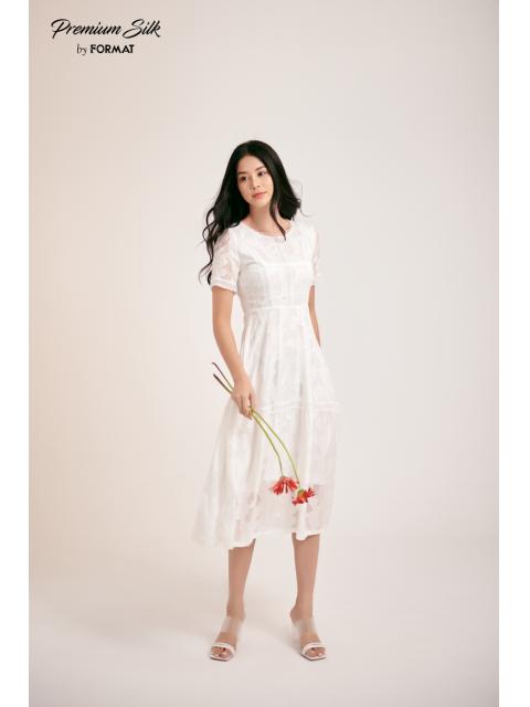 Đầm B9DRE303I trắng