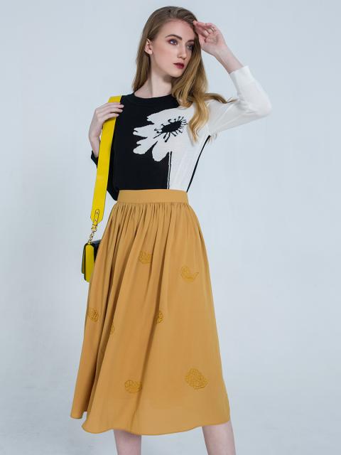 Chân váy B917-907F vàng