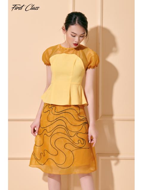 Chân váy A917-099I vàng