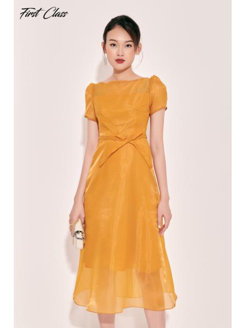 Đầm A993-530I vàng đậm
