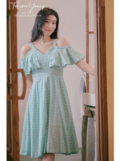 Đầm B9DRE005I xanh