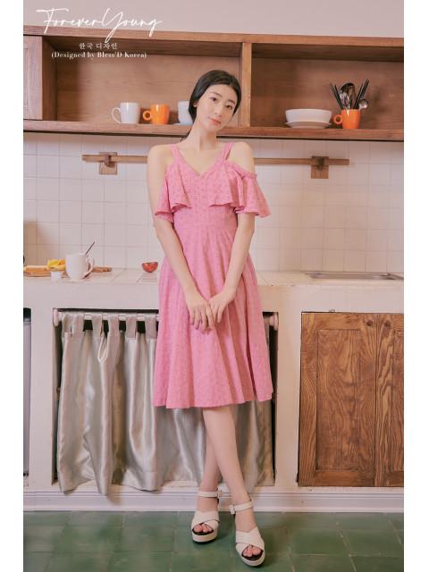Đầm B9DRE005I hồng