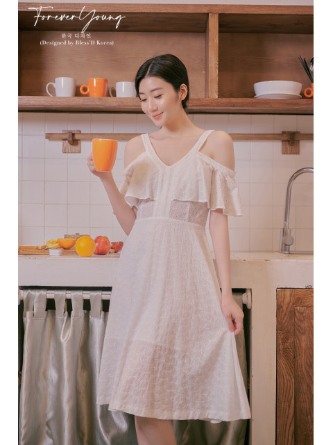 Đầm B9DRE005I trắng