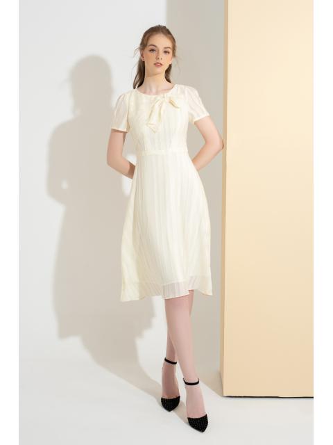 Đầm B993-662I họa tiết trắng