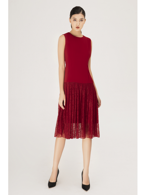 Đầm B990-551H đỏ
