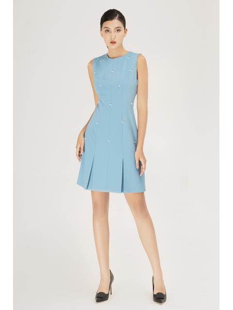 Đầm B990-570H xanh