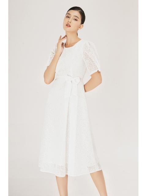Đầm B995-568H trắng